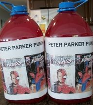 Turn your ordinary punch into Peter Parker Punch for your outdoor movie party - A DIY idea for movie snacks at a backyard movie event by Southern Outdoor Cinema.