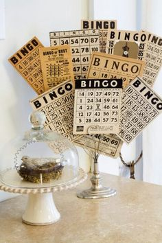 Bingo decoration (pinned from Roxanne Jacobs)