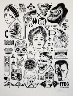 Mike Giant Modern Hieroglyphics Print