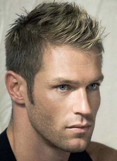 The Best Of Short Hair Cuts For Men Is Here Right Now With 6 Inspiration That You Might Like It : Men Short Blonde Hairstyles Modern 2015 Style , This Style Is Called Faux Hawk Or Short Mohawk The Middle Is Spiked To Top And The Side Is Cut Short Or Sometime Faded