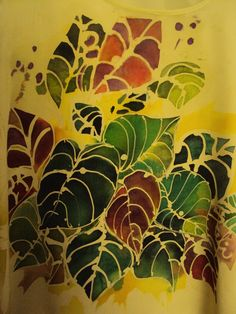 part. canotta sottogiacca - batik su seta made by Stefania Pellarini