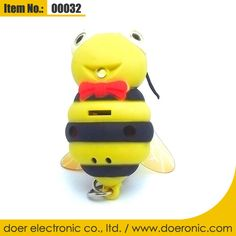Electronic Gadgets Bee Sound LED Keychain Torch | Doer Electronic the Animals Novelty Gadgets Supplier from China, Welcome to the World of Animals Fun.