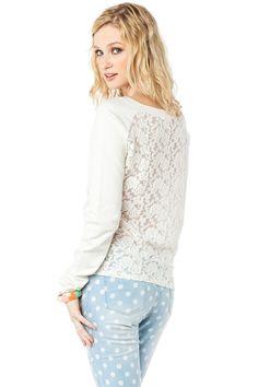 ShopSosie Style : Courtney Lace Sweater