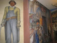 Coit Tower WPA murals-Ancestors are taller Coit Tower San Francisco, Murals, Paradise, Painting, Art, Art Background, Wall Paintings, Painting Art, Kunst