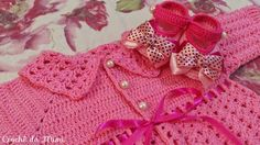 """Crochê da Mimi"": Macacão de crochê para bebê - Parte 2"
