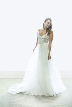"Corston Couture's ""Precious Love"" Gown  2016 RTW Collection #corstoncouturegown #corstoncouture #corston #couture #tulle #tulleweddingdress #bohowedding #tulleandlace #juliajohnstonphotos"