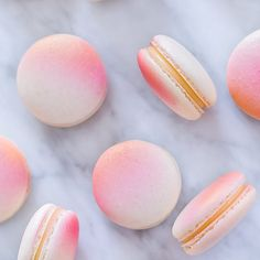 I've been wanting an airbrush for a while and I finally got one! I obviously had to try it on my macarons first so I sprayed them pink and gold filled with lemon cream