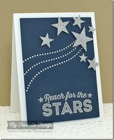 Reach For the Stars - MFT April Release Countdown, Day Five by Bar - Cards and Paper Crafts at Splitcoaststampers Graduation Theme, Preschool Graduation, Graduation Cards, Graduation Ideas, Star Cards, Reaching For The Stars, Mft Stamps, Christmas Signs, Scrapbook Cards