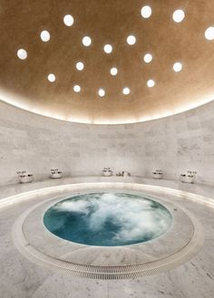 Stunning Inground Hot Tub Ideas for Your Relaxing Space Jacuzzi, Inground Hot Tub, Spa Design, Pool Spa, Turkish Bath House, Roman Bath House, Private Sauna, Sauna Hammam, Spa Bathroom Decor