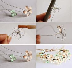 DIY Wire Nail Polish Flowers | Creative Ideas
