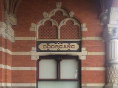 Groningen Station CS, art deco typography, foto by TypeFaith Fonts