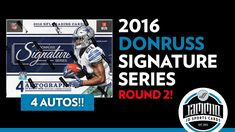 2016 Donruss Signature Series Football Box Break - Round 2