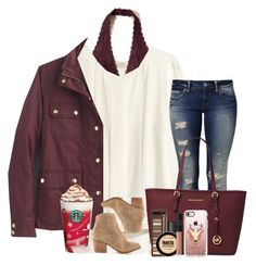 """""""Last Christmas I Gave You My Heart"""" by theafergusma ❤ liked on Polyvore featuring H&M, Hollister Co., Mavi, J.Crew, Michael Kors, Urban Decay, Too Faced Cosmetics, Maybelline, NARS Cosmetics and Casetify"""
