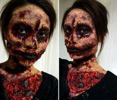Halloween makeup tutorial.
