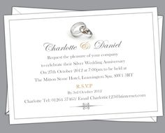 Ruby wedding anniversary invitations prices start from 650 free silver wedding anniversary invitations prices start from 650 free envelopes and delivery inland stopboris Images