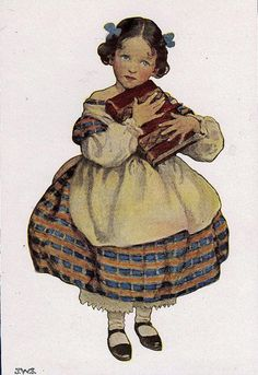 And don't even think of trying to take it away from me! This demure face is just a mask.... Jessie Willcox Smith Illustration
