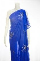 CHIC ROYAL BLUE GEORGETTE DIRAC