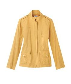 Tailored Jacket A structured jacket plays up the shoulders, which evens out the lower body's proportions.