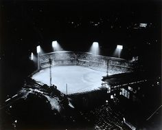 Forbes Field Baseball Stadium Pittsburgh PA Light Up at Night Aerial Shot | eBay