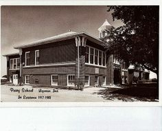 Ligonier Indiana, old Perry school building