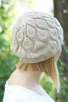 Hand knitted women beret rustic autumn fashion by SockClub on Etsy