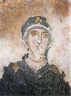 The mosaics of the room over the vestibule in hagia sophia, Thessaloniki