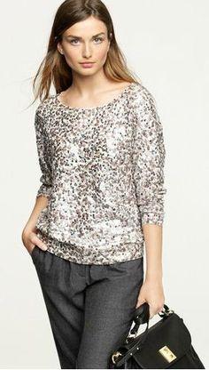 Sequin sweater :)