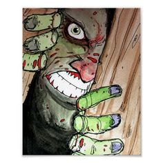 zombie breaking in poster