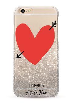 Iphoria X Anita Hass Liquid Glitter Case Heart für Apple iPhone 7 Plus 1
