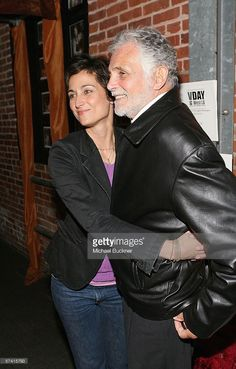 Actress Alexandra Hedison (L) and father actor David Hedison (R) attend the VDAY West LA 2006 cocktail reception at the Ivy Substation on April 24, 2006 in Culver City, California.