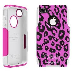 iPhone 4 4S Pink / White OtterBox ® Commuter Series ® Cheetah Print