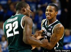 No. 21 Michigan State grabs their first win of the season, out-dueling No. 7 Kansas 67-64 in Atlanta at the Champions Classic. Keith Appling led the way for the Spartans with 19 points and some clutch buckets in the final minutes of the game.