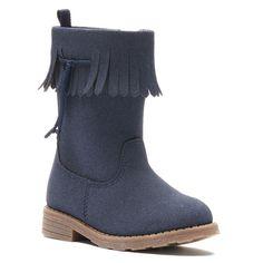 Carter's® Toddler Girls' Fringe Cowboy Boots, Girl's, Size: 11, Blue (Navy)