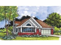 Eplans Cottage House Plan - Two Bedroom Cottage - 1421 Square Feet and 2 Bedrooms from Eplans - House Plan Code HWEPL60117