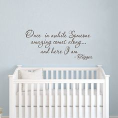 Wall Decals Quotes Winnie the Pooh Wall Decal Quote Tigger Nursery Wall Decals Baby Boys Girls Room V1101