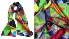 Geometric_01, silk scarf by Ima Picó©