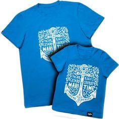 Набор летних футболок для папы и сына Family look