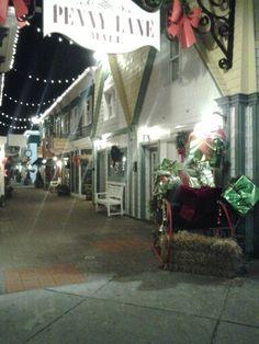 Penny Lane in Rehoboth beach Delaware merry christmas