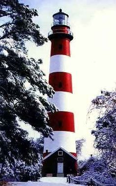 Lighthouse in the snow