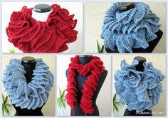 Crochet Scarf PATTERN - Ruffle Scarf Crochet Sample - Double Ruffle Scarf - Crochet Tutorial - On the spot Obtain - Lyubava Sample 65 Crochet Ruffle Scarf, Beau Crochet, Crochet Scarves, Hand Crochet, Chunky Crochet, Lace Scarf, Crochet Granny, Crochet Gifts, Free Crochet