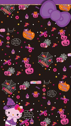 Halloween HK tjn - Tap the link now to see all of our cool cat collections! Backgrounds Girly, Hello Kitty Backgrounds, Hello Kitty Wallpaper, Kawaii Wallpaper, Cute Wallpaper Backgrounds, Wallpaper Iphone Cute, Cellphone Wallpaper, Cute Wallpapers, Movie Wallpapers