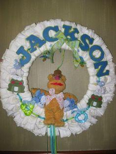 Muppets Diaper Wreath
