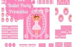 Free Full Set of BALLET Party Printables