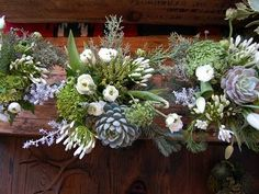 studio choo flowers and suculents LIKE THE VARIETY OF SHAPES...LOOKS LIKE A GREAT ARRANGEMENT