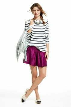 silk shorts -- so cute for spring and summer