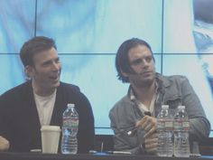 FACES!!! Hahaha (they probably just saw their Stucky ship. lol Poor guys) :(