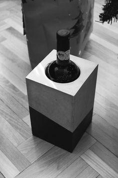 beton bortartó | concrete wine rack