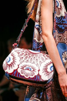 #Valentino Large Floral Print Purple Flap Shoulder Bag - Spring 2015
