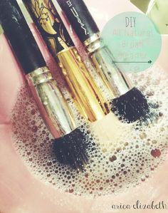 All Natural Makeup Brush Cleaner: Mix equal parts warm water and white vinegar, and add a few drops of baby shampoo. Let your brushes soak for a few minutes ...