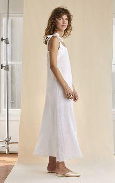 760e3c03417 Dress Me Up - Summer White Linen Maxi Dress – Sarah J Curtis